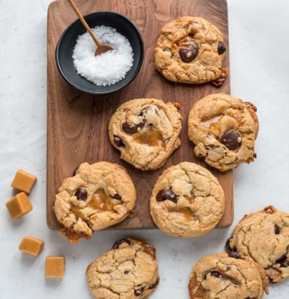 Brown Butter & Caramel Chocolate Chip Cookies