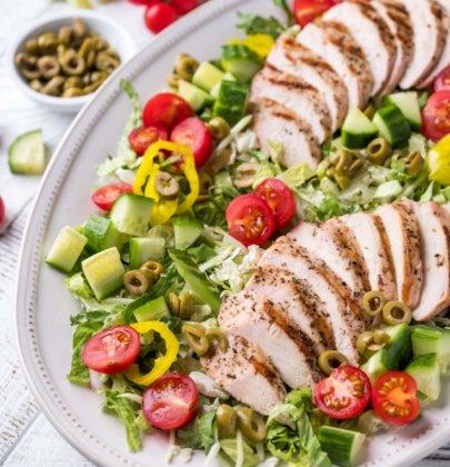 Lemon & Herb Chicken Greek Salad