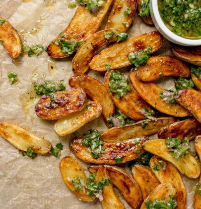 Fingerling Potatoes with Chimichurri