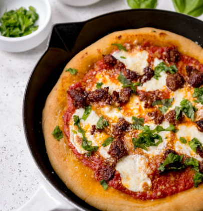Spicy Sausage Cast Iron Pizza